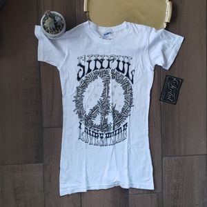 Affliction Sinful Peace Sign Short Sleeve T shirt